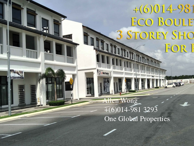 Eco Boulevard - 3 Storey Shoplot@eco Botanic For Rent photo